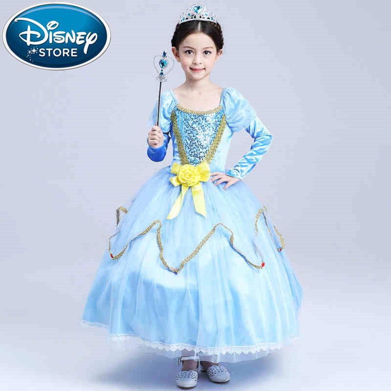 Disney Frozen dress elsa anna Princess Christmas Children Clothing Girls  Baby Kids Cosplay Costume Birthday party infants 93386b61c4