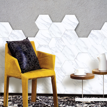 Creative White Marble Wall Tile Stickers  Anti-Slip Wallpaper DIY Self-adhesive Art Decal for Kitchen Bathroom Home Decoration self adhesive zebra pattern black and white grid pattern 3d wallpaper kitchen bathroom art background wallpaper home decoration
