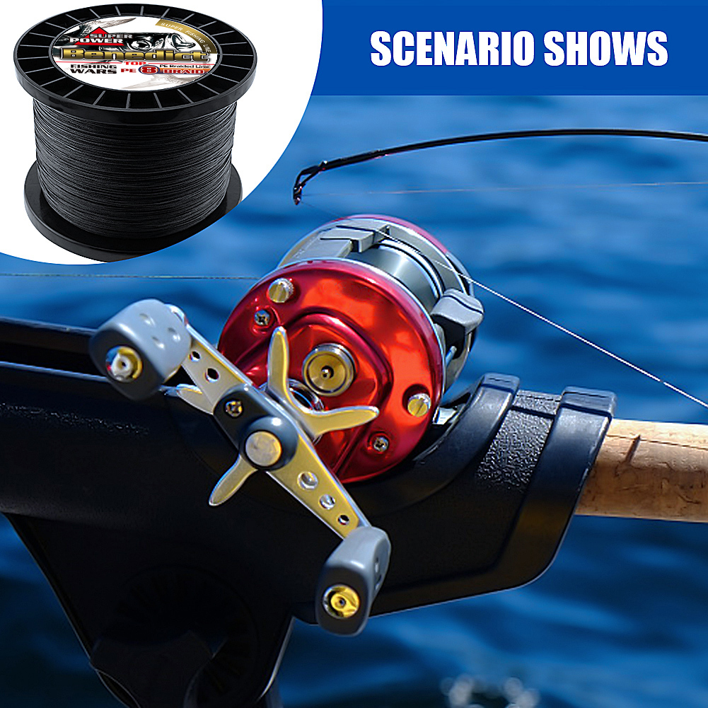 Braided fishing line 8 strands 8 300LBS never faded black long line 1500M 2000M pe braided wires thread fishing takle online-in Fishing Lines from Sports & Entertainment
