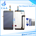 Para xiaomi redmi 2 pantalla lcd con el digitizador del tacto montaje de piezas de repuesto para xiaomi hongmi 2 con herramienta gratuita gratis
