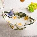 Fangya esplendor Europeo jardín plato de frutas de cerámica grande sala de estar muebles mesa de regalo de inauguración