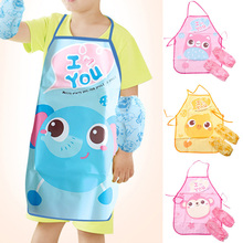 Children Apron Waterproof Kids Cute Bibs Baby-Accessories Portable Cartoon Food Drink