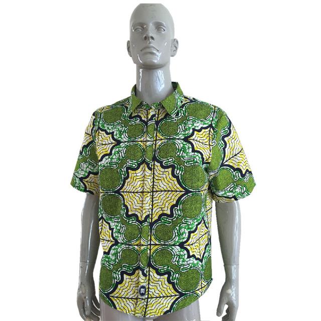 Hombres camisa de encargo africano dashiki ropa camisetas de manga corta de impresión exquisita ropa de áfrica