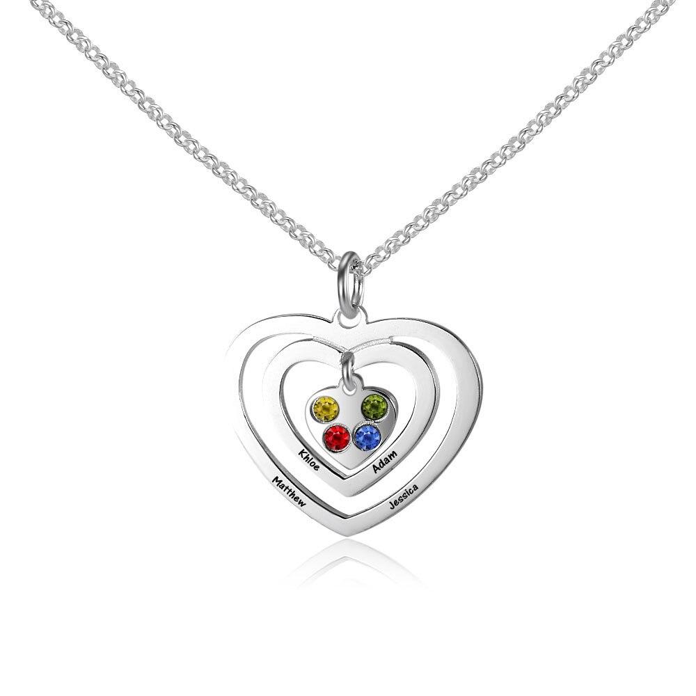 18th Birthday Necklace Sterling Silver Custom Birthstone: Aliexpress.com : Buy Customized Women 925 Sterling Silver