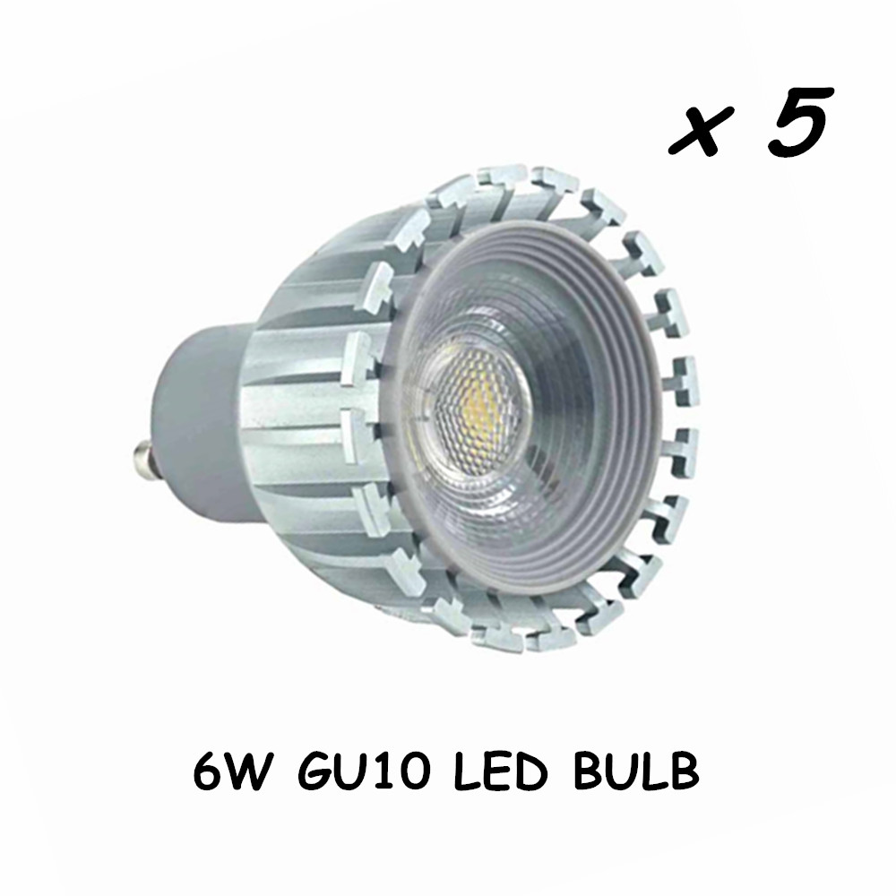 gu10 led light bulb with cob led chips equivalent to 50. Black Bedroom Furniture Sets. Home Design Ideas
