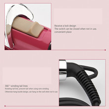LCD electric porcelain hair styler