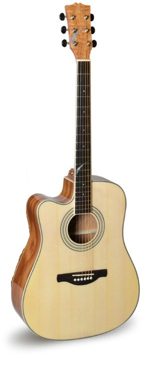 41inch left hand acoustic electric guitar with tuner pickup brazil guitar in guitar from sports. Black Bedroom Furniture Sets. Home Design Ideas