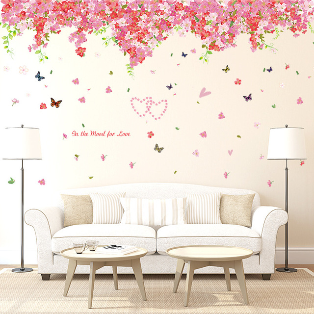 Extra Large Beautiful Sakura Wall Stickers Living Bedroom