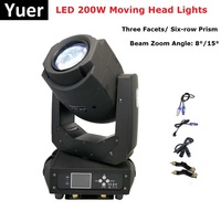 1Pcs 200W LED Lyre Moving Head Lights Beam Spot Wash LED Lights DMX Party Lights DJ Stage Lights Night Clubs Merry Christmas Use