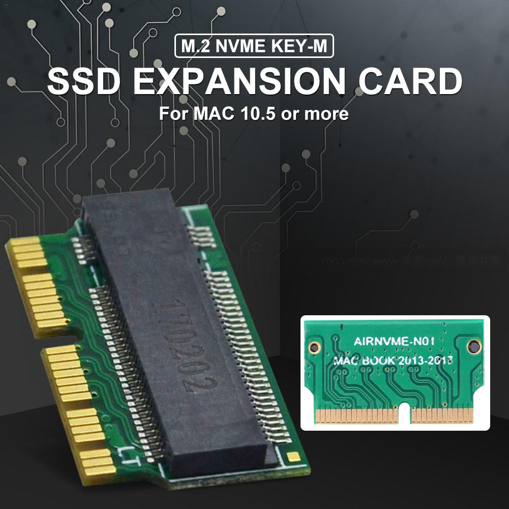 NVMe PCIe M.2 M Key SSD Adapter Card Expansion Card Support PCI Express 3.0 X4 For Macbook Air 2013 2014 2015-in Memory Card Adapters from Computer & Office