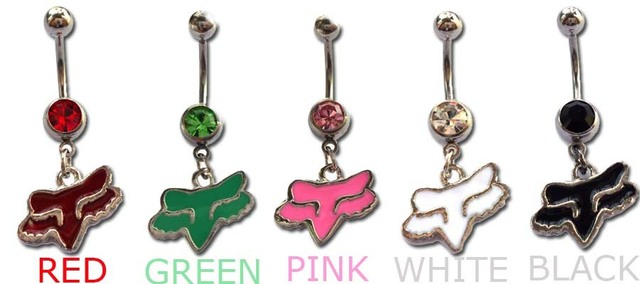 Fox body  jewelry  piercing wholesale stainless steel  5pcs Dangle Button belly rings