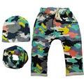 Nuevo 2017 de Primavera y Otoño Ropa Niños Niñas Harem Pantalones con Estampado de Camuflaje de Algodón Pantalones Pantalones Bebé