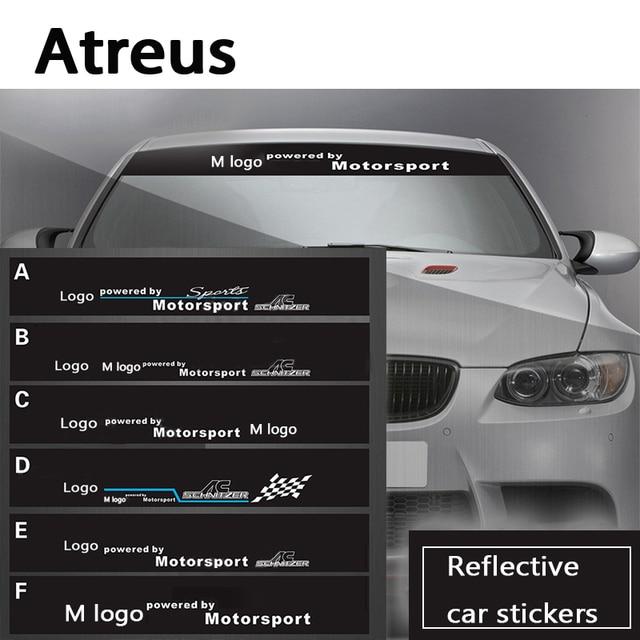 Us 80 Atreus Auto M Logo Leistung Auto Frontscheibe Windschutzscheibe Aufkleber Aufkleber Für Bmw E46 E39 E90 E60f30 F10 X6 E34 E53 Abdeckung In
