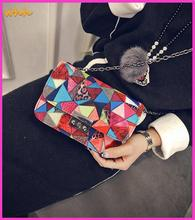 2015 in Europe and America Print geometric pu small square package retro chain shoulder messenger bag famous designer handbags 5