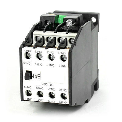 JZC1-44 AC Contactor Type Relay 36V 50Hz Coil Voltage 3-Phase 4NO + 4NC 1set my4nj dc 12v coil 4no 4nc green led indicator power relay din rail 14 pin base mini relay