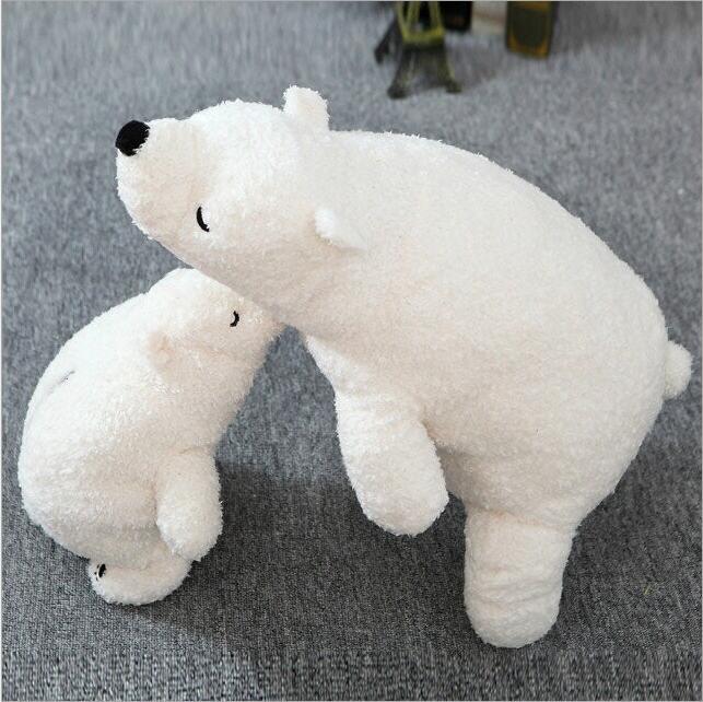 1pcs Big Size 70cm Japan three polar bear pillow Stuffed Plush Toys Simulation White Polar Bear Doll  Children's Birthday gift