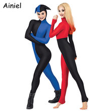 Anime Harley Quinn Cosplay Costumes for Woman Movie The Joker Cosplay Suit Jumpsuits Spandex Halloween Party for Adult Kids Girl(China)