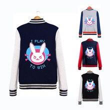 Hoodie Sweatshirt Women Jackets Varsity Uniform Baseball Jacket Men Coat Dva Clothes Female Fleece Coat Male D.va Tracer OW