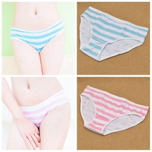 1x mulheres azul rosa listras calcinha cuecas lolita menina cueca kawaii bonito anime japonês cosplay roupas zxy9252