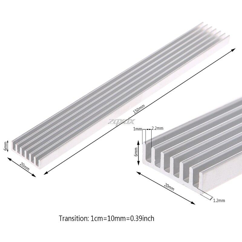 150*20*6 мм алюминиевый радиатор полоса охлаждения компьютера электронный Радиатор Охладитель оптовая продажа и Прямая поставка Кулеры/вентиляторы/системы охлаждения      АлиЭкспресс
