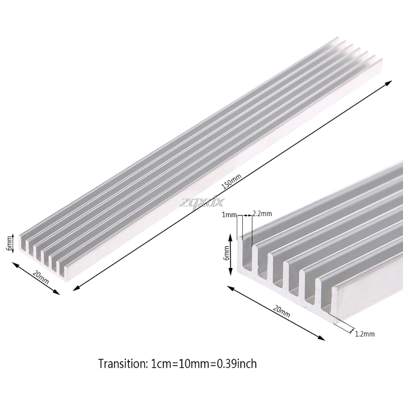 150*20*6mm Aluminum Heatsink Strip Cooling Computer Electronic Radiator Cooler Whosale&Dropship