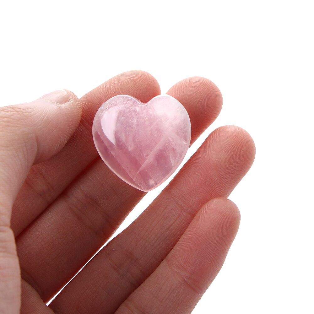 Heart-shaped Natural Rose Quartz Stone 4