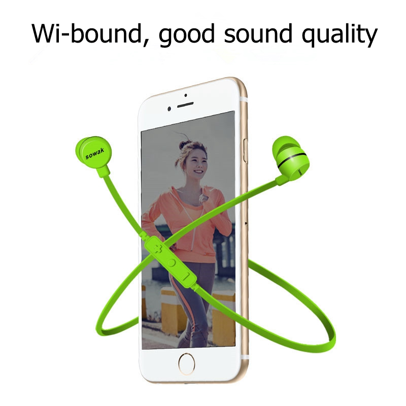 Bluetooth Headset Wireless Earphone For iPhone Android phone Earpiece Sport Running Stereo Earbuds With Microphone Auriculares