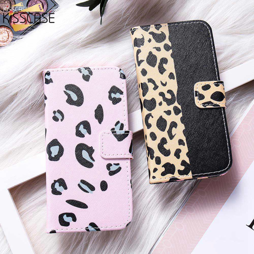 KISSCASE Leopard PC Leder Fall Für <font><b>iPhone</b></font> 6/6 s/7/8/X/XS/ XR/XS MAX/6 Plus Sexy Leder Fall Für <font><b>iPhone</b></font> XS MAX <font><b>7s</b></font> 8 Plus Abdeckung image