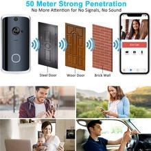 Smart Wireless Doorbell  WiFi Ring Audio Video Doorbell Camera Phone Bell Wireless Intercom Home Security все цены