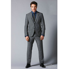 tuxedo for wedding mid gray custom made suits for men business suit for groom dress 2017 tailor suit