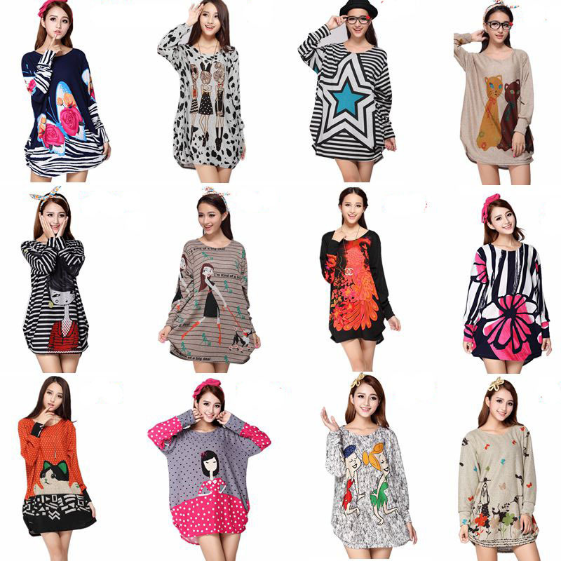 64 dizájn plusz méret 2018 új tavaszi hosszú ujjú ruha női - Női ruházat