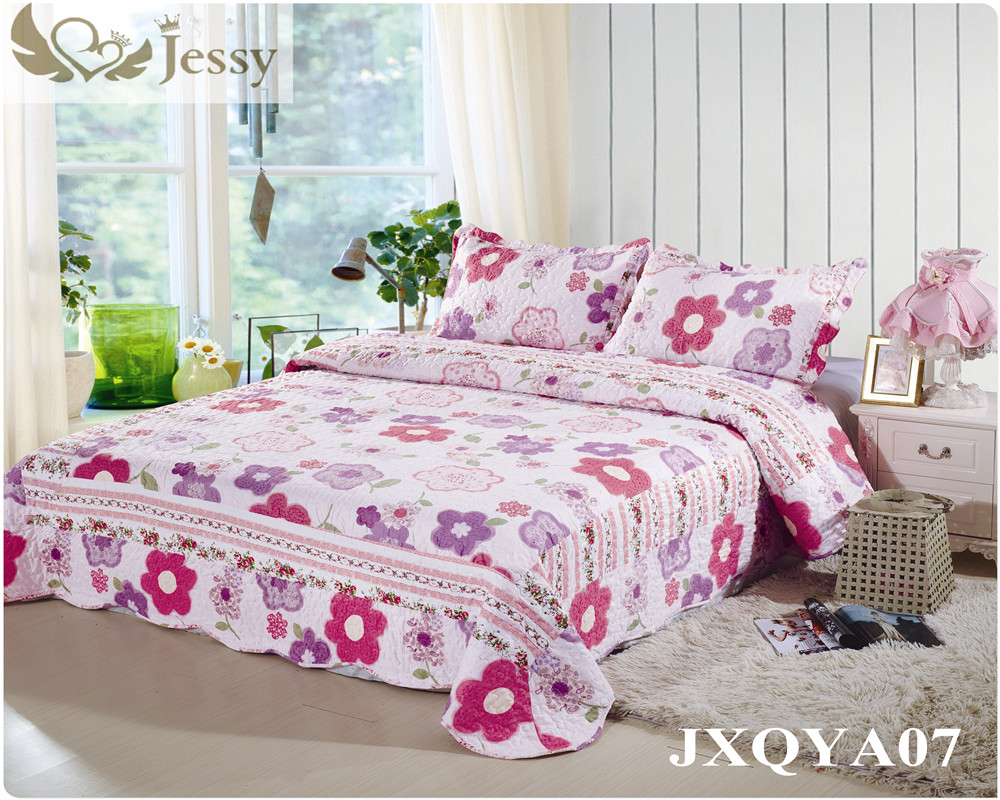 online buy wholesale bedspread patchwork from china bedspread  - jessy home pcs reversible bedspread coverlet quilt set oversizerealpatchwork(china)