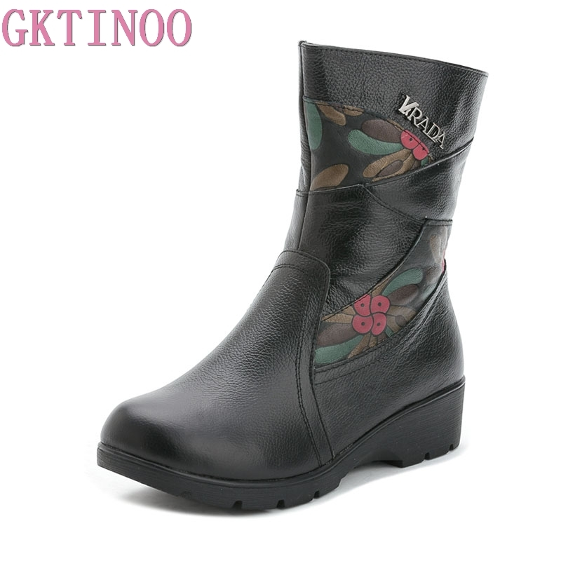 GKTINOO High Quality Women Genuine Leather Shoes Casual Ladies Boots Winter Warm Flat Womens Boots Plush Large Size 41GKTINOO High Quality Women Genuine Leather Shoes Casual Ladies Boots Winter Warm Flat Womens Boots Plush Large Size 41