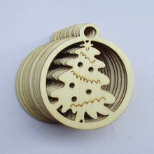 Free shipping 46mm 80pcs/bag wholesale high quality pendant die cutting Angle  wooden Christmas decorations 017012011