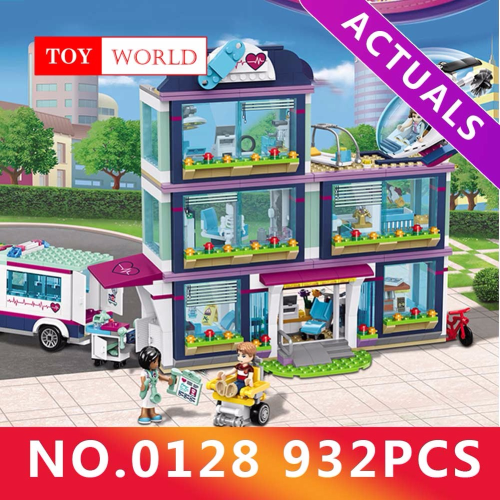 932pcs Heartlake City Park Love Hospital Girl Friends Building Block Compatible LegoINGly Friends Brick Toy gh20