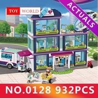 932pcs Heartlake City Park Love Hospital Girl Friends Building Block Compatible LegoINGly Friends Brick Toy gh20