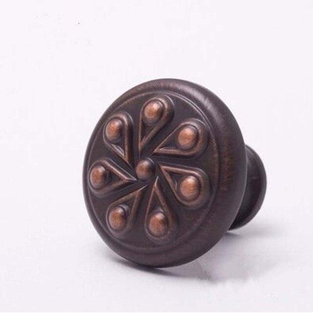 Red Bronze Drawer Kitchen Cabinet Door knob Handle Antique Copper ...