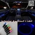 Para mitsubishi lancer 2000-2007 panel de iluminación de luz ambiental para el interior del coche fresco interior del coche tira de luz de fibra óptica banda