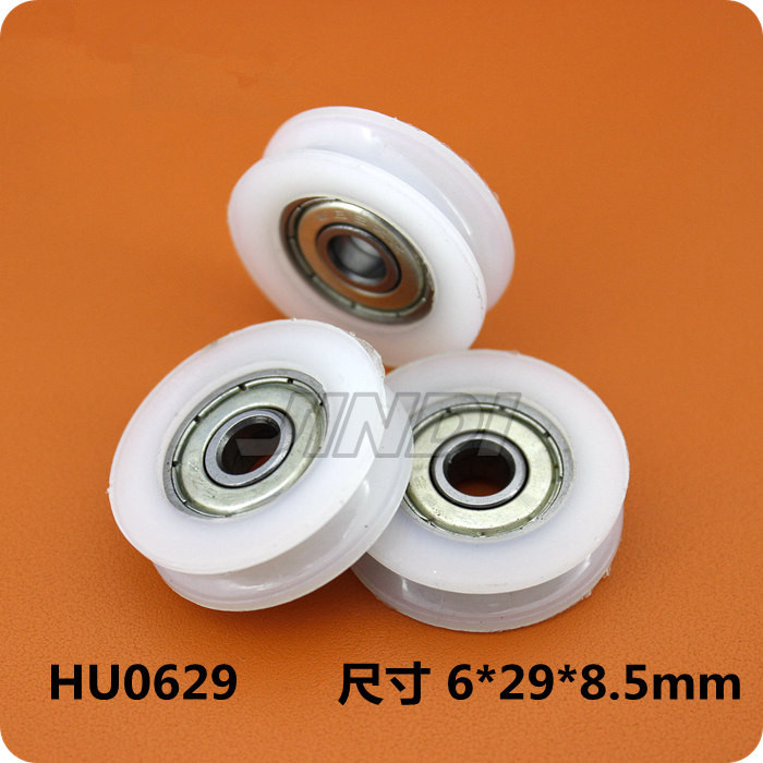 Fixmee 2pcs 29mm Round Groove Nylon Pulley Wheels Roller for 2.5mm rope w/ 625ZZ Bearing