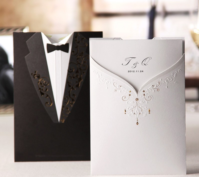 Buy different wedding invitations and get free shipping on