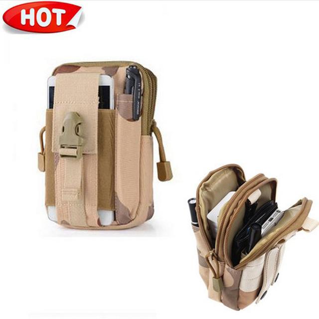 Ao ar livre Tático Militar Molle Coldre Hip Bolsa Cinto Carteira caso de telefone bolsa para meizu pro 6 para iphone 7/htc/zipper 510