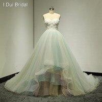 Милое 3D цветочное бальное платье Свадебные платья Красочные Синие Желтые Реальные фото свадебное платье изготовленный на заказ