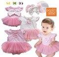 Свадебные платья новорожденных девочек летнее платье vestido infantil menina кружева детское платье одежда 2015 одежда для новорожденных девушки Ангельские крылья платье