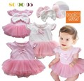 Vestidos baby girls dress summer vestido infantil menina lace baby dress clothing 2015 clothes infant girls Angel wings dress