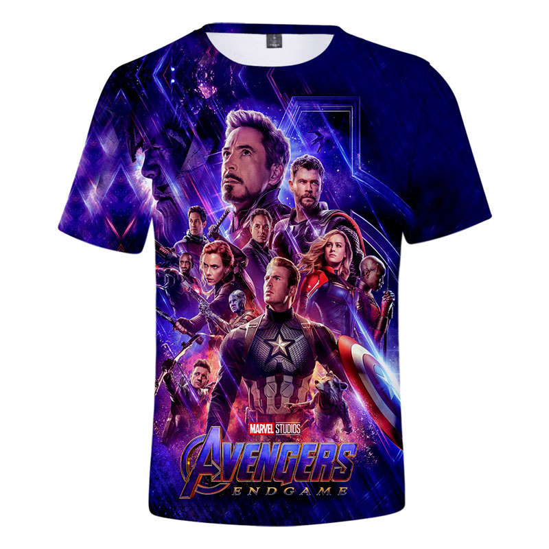 2019 Hot Sale New design   t     shirt   men/women marvel Avengers Endgame 3D print   t  -  shirts   Short sleeve Harajuku style tshirt tops