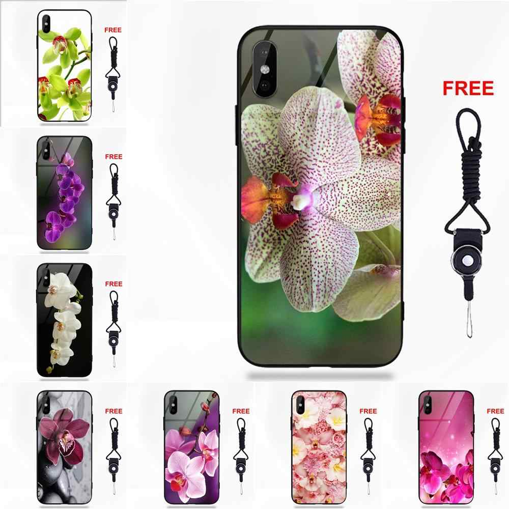 Orchid Flowers Hd Wallpaper Protective For Apple Iphone X Xs Max Xr 5 5c 5s Se 6 6s 7 8 Plus