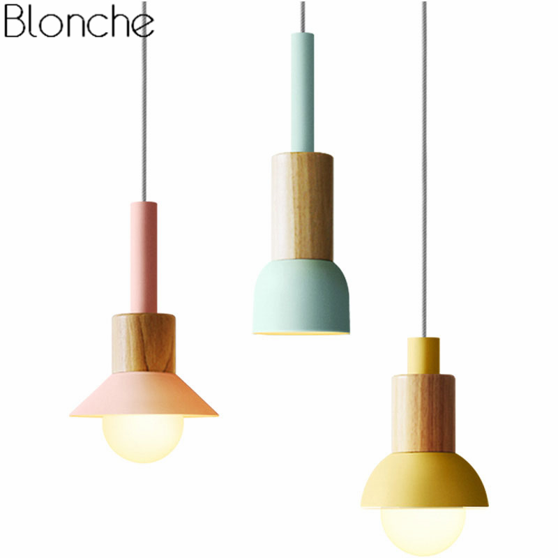 Modern Wood Pendant Lights for Living Room Bedroom Kitchen Lighting Fixtures Nordic Led Iron Hanging Lamp Home Decor Luminaire цена 2017