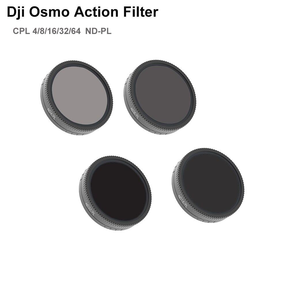Filtro de lente de cámara deportiva para DJI Osmo Filtro de acción CPL 4 8 16 32 64 ND PL conjunto de filtros accesorios de cámara-in Carcasas para cámaras de deporte from Productos electrónicos    1