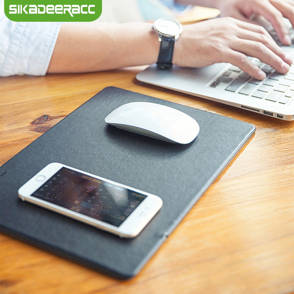 JK82 Mouse Mat Qi Wireless Charger Pad For Samsung S7 Edge S8 Note 5 8 Lumia 950
