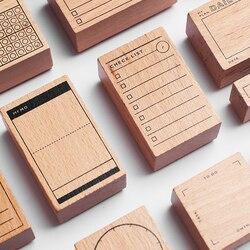 Tagebuch Holz Benutzerdefinierte Stempel Scrapbooking, hintergrund Stempel für Memo Aufgabe Überprüfen Rekord Halten